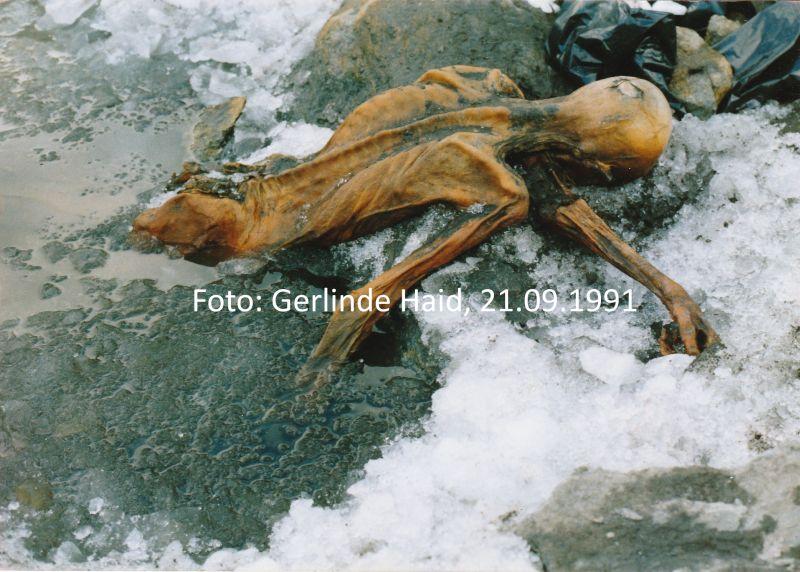 Ötzi, der Mann aus dem Eis, Tisenjoch 21.09.1991, Foto: Gerlinde Haid